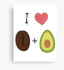 Coffee + Avocado Canvas Print
