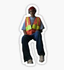 Construction Worker Sticker