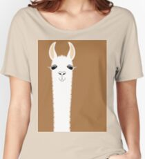LLAMA PORTRAIT #9 Women's Relaxed Fit T-Shirt