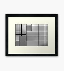 Monochrome composition Framed Print