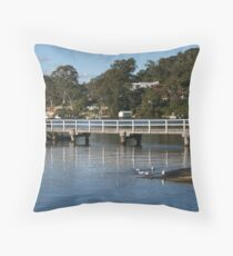 Sittin' by the bay Throw Pillow