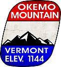 SKI OKEMO MOUNTAIN VERMONT SKIING SNOWBOARDING HIKING CLIMBING 2 by MyHandmadeSigns