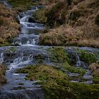Waterfall at Glendevon in Scotland by Jeremy Lavender Photography