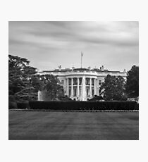 Black and white The White House Photographic Print