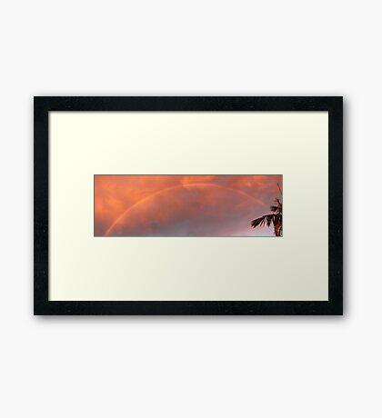 Sunset Storm Rainbow Framed Print