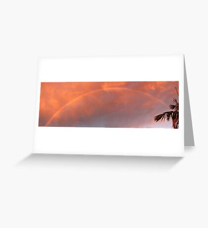 Sunset Storm Rainbow Greeting Card