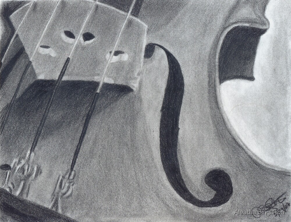 Violin Body by Aleatha Singleton