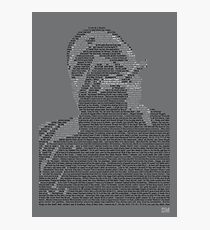 Biggie Lyric Portrait Photographic Print