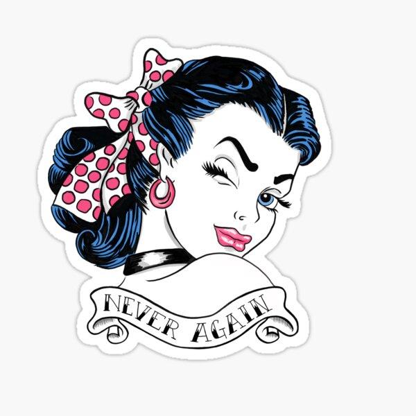 Never Again Tattoo Sticker