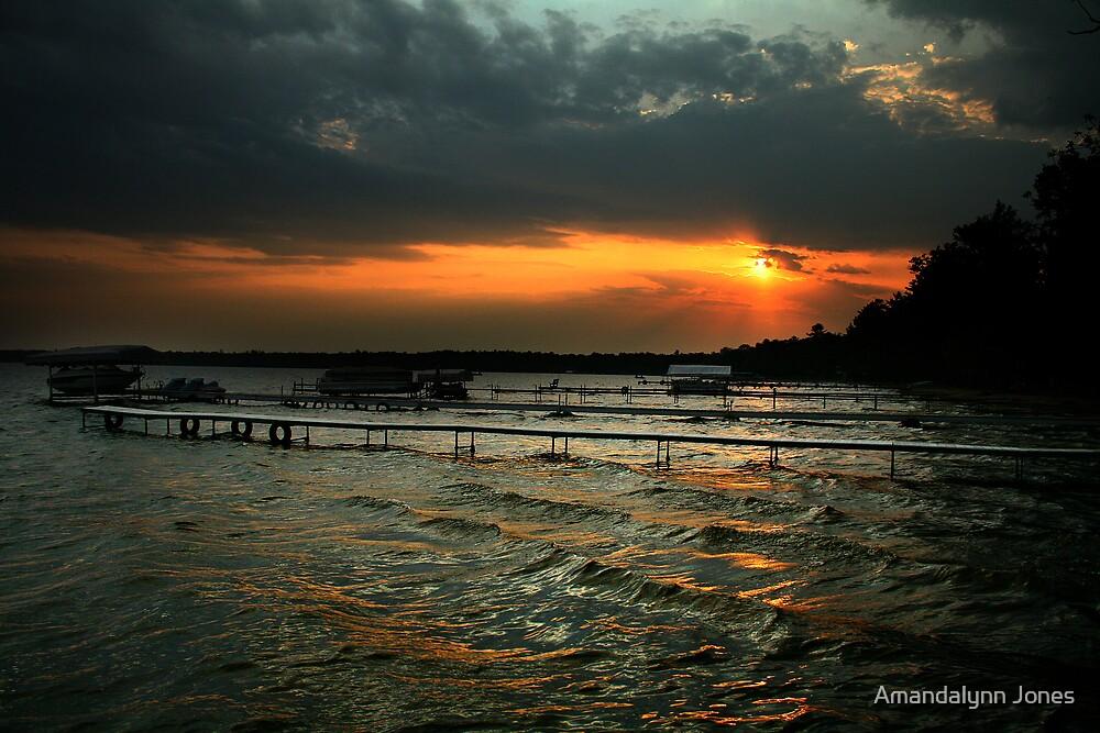 Sunset on the Docks by Amandalynn Jones