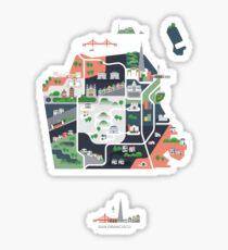 Map of San Francisco Sticker