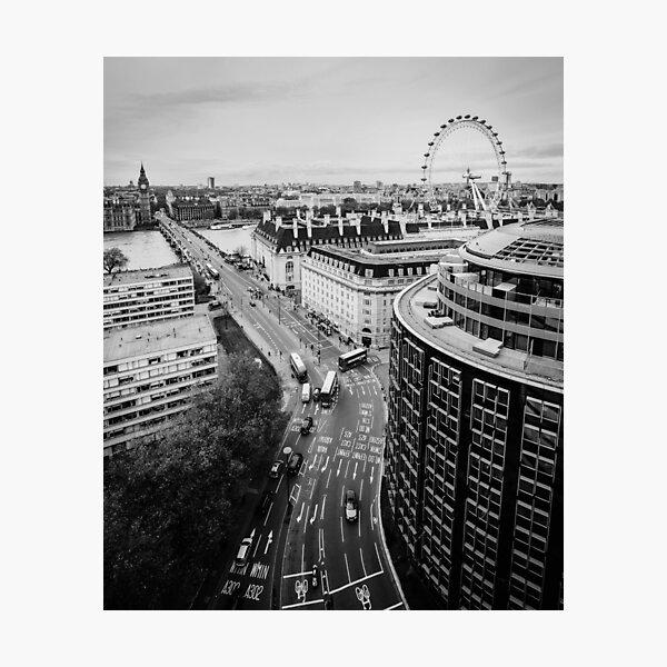 Black and White London City Photographic Print