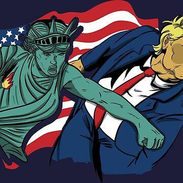 Nasty Woman vs Trump by LgndryPhoenix