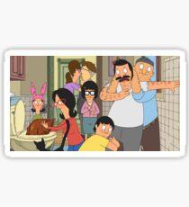 The Burger Family Life Sticker