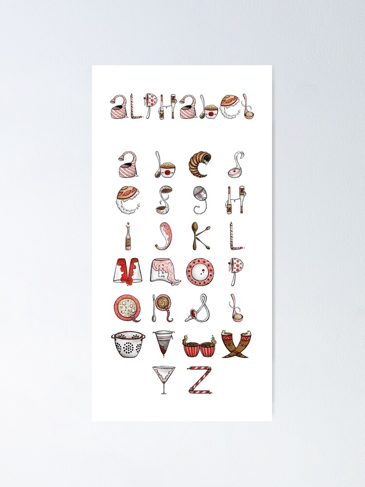 Alternate view of Spills & Spoons Alphabet Poster