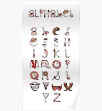 Spills & Spoons Alphabet Poster