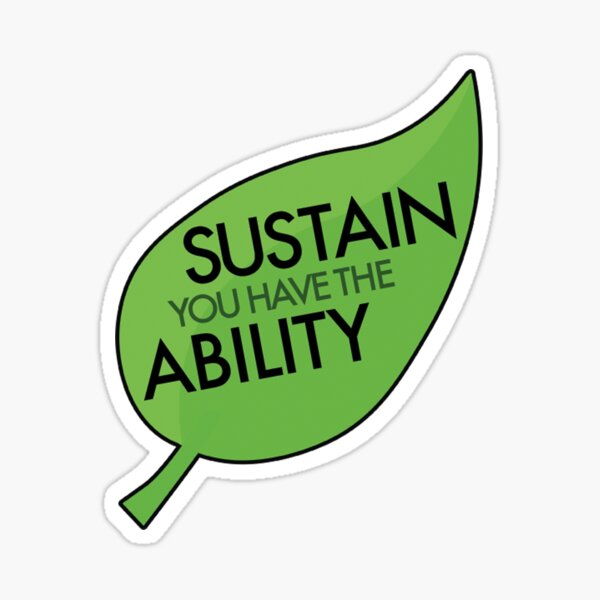 Sustainability Sticker