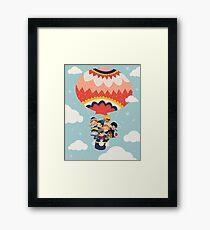 It's Our Small Little World Hot Air Balloon Kids Framed Print