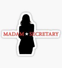 Madam Secretary silhouette Sticker