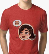 CHIBICELINA DREAMS OF CHEESEBURGERS Tri-blend T-Shirt