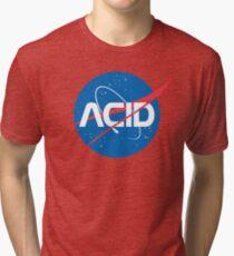 Camiseta de tejido mixto Ácido vs Nasa