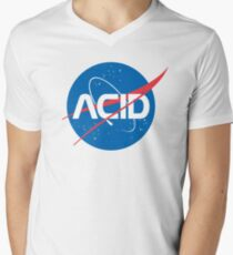 Acid vs Nasa V-Neck T-Shirt