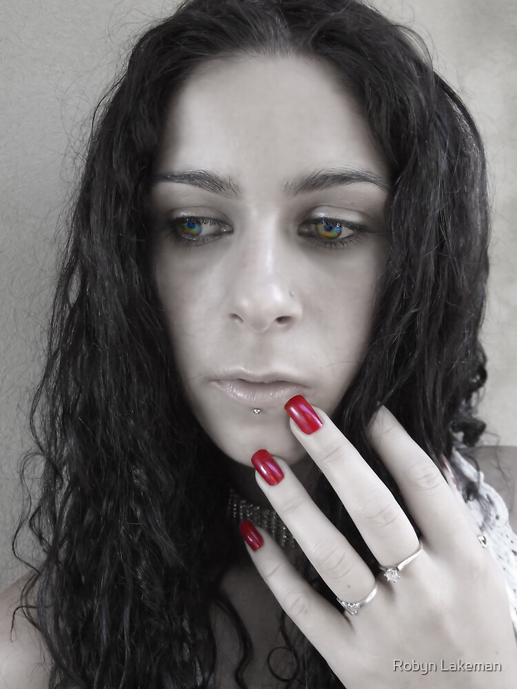Red nails by Rivergirl