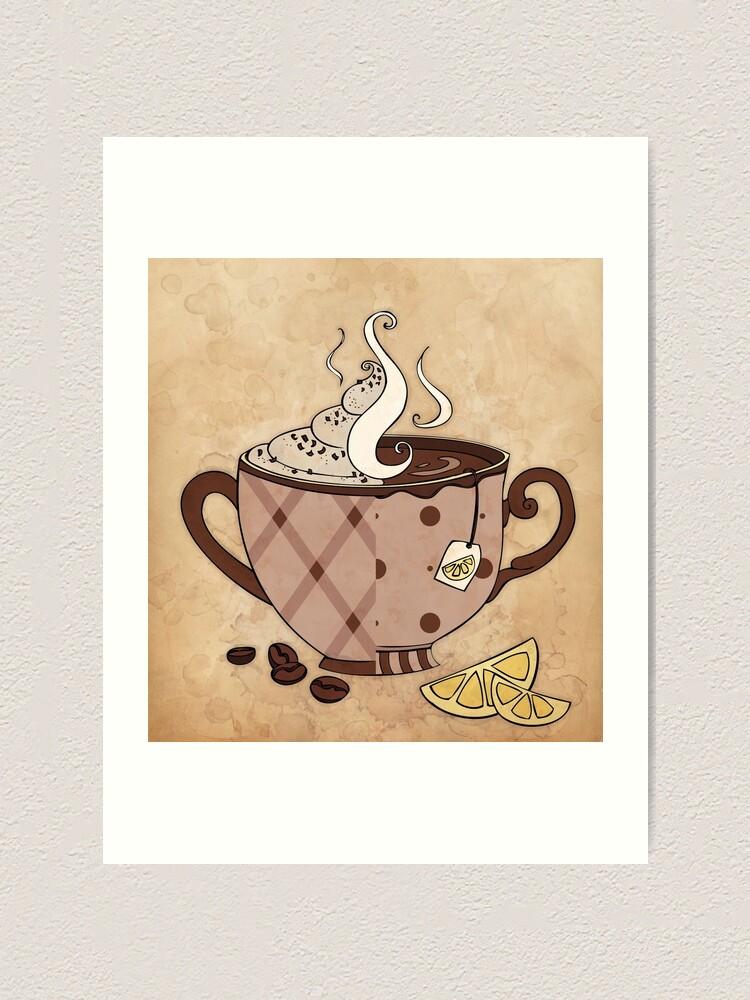 Alternate view of Coffee or Tea? Art Print