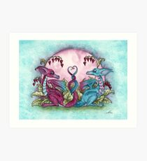 Love Dragons Art Print