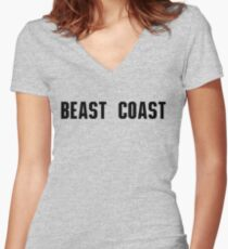 Beast Coast - Always Sunny In Philadelphia Women's Fitted V-Neck T-Shirt