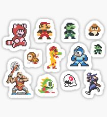 8-bit Characters Sticker Sheet Sticker