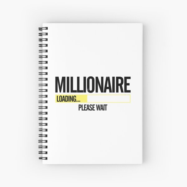 Millionaire Loading Please Wait  Spiral Notebook