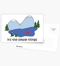 Simple Things - Canoe Postcards