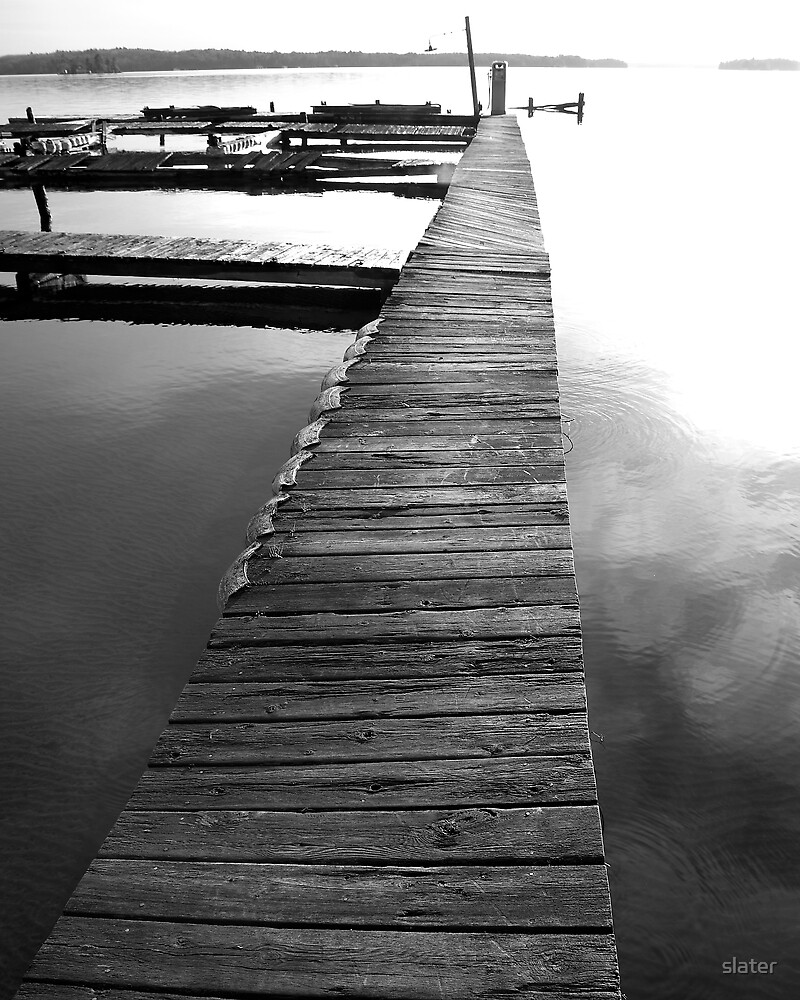 weathered dock by slater