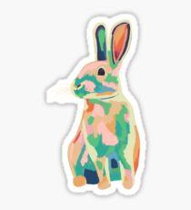 Colourful rabbit, bunny Sticker