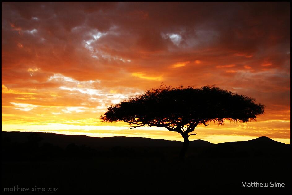 sunset by Matthew Sime