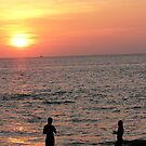 Sunset over the Ocean by siegephotos