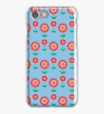 Country Flowers Blue iPhone Case/Skin