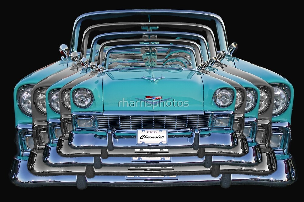 Multiple Blue Chevy Belair Abstract by rharrisphotos