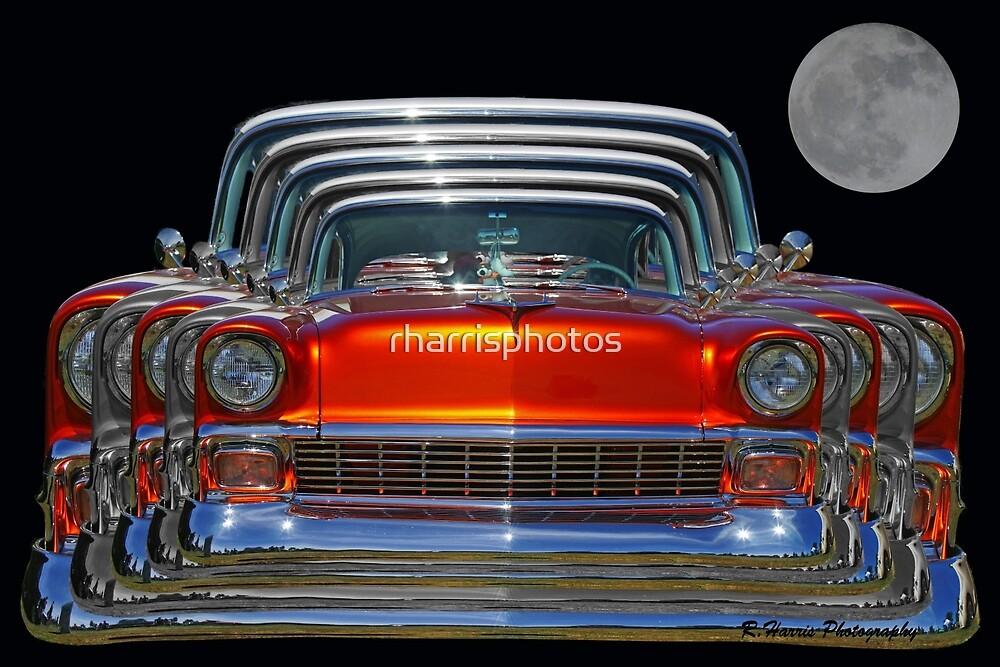 Multiple Orange Chevy Belair Abstract by rharrisphotos