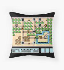 Super Mario Bros 3 NES World 1 Throw Pillow