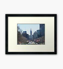 Philadelphia City Hall, Ben Franklin Blvd, Seen from Museum Row Framed Print