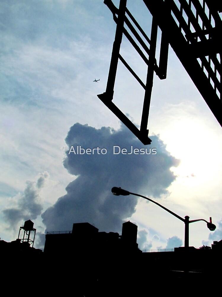 New York City silhouette by Alberto  DeJesus