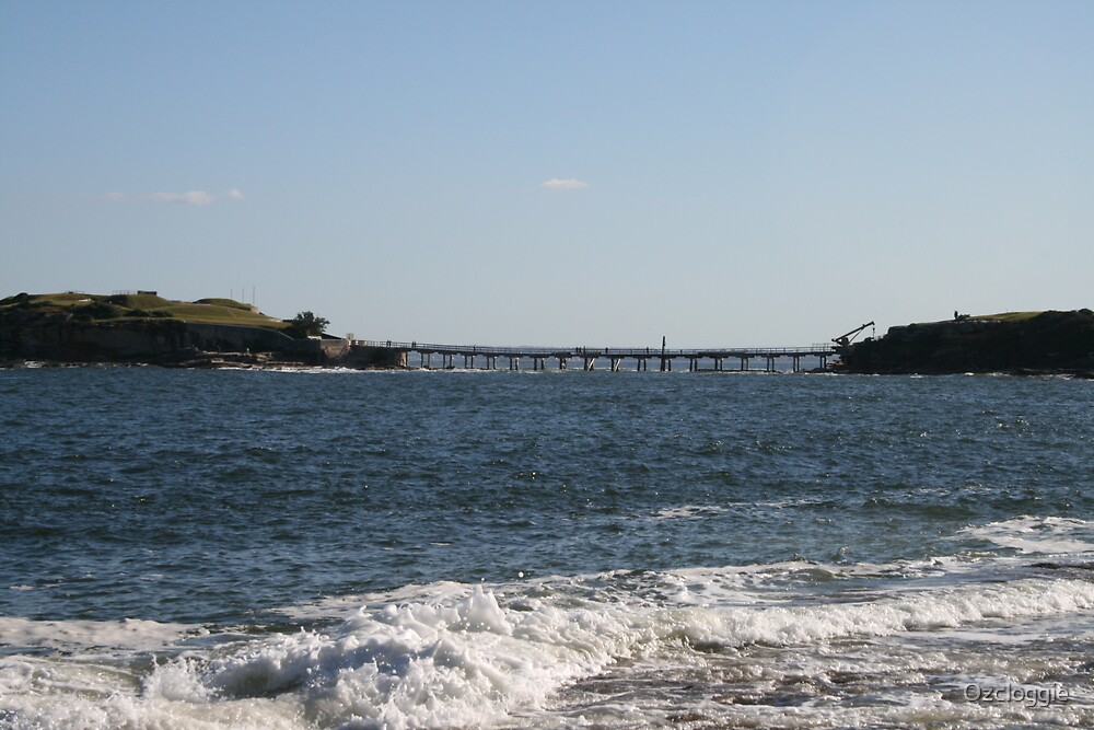 View of Bare Island, from Congwong Beach by Ozcloggie