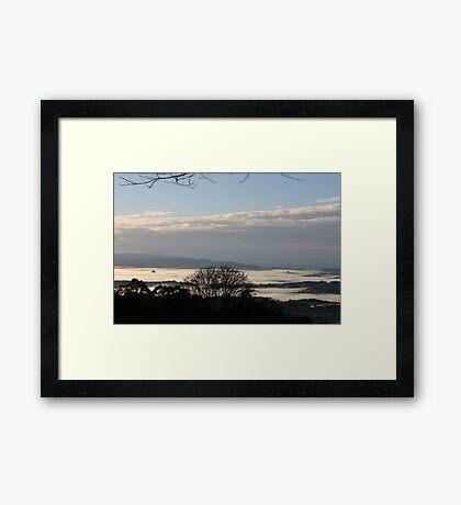 Culraven in the morning Framed Print