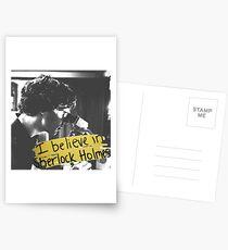 #BelieveInSherlock Postcards