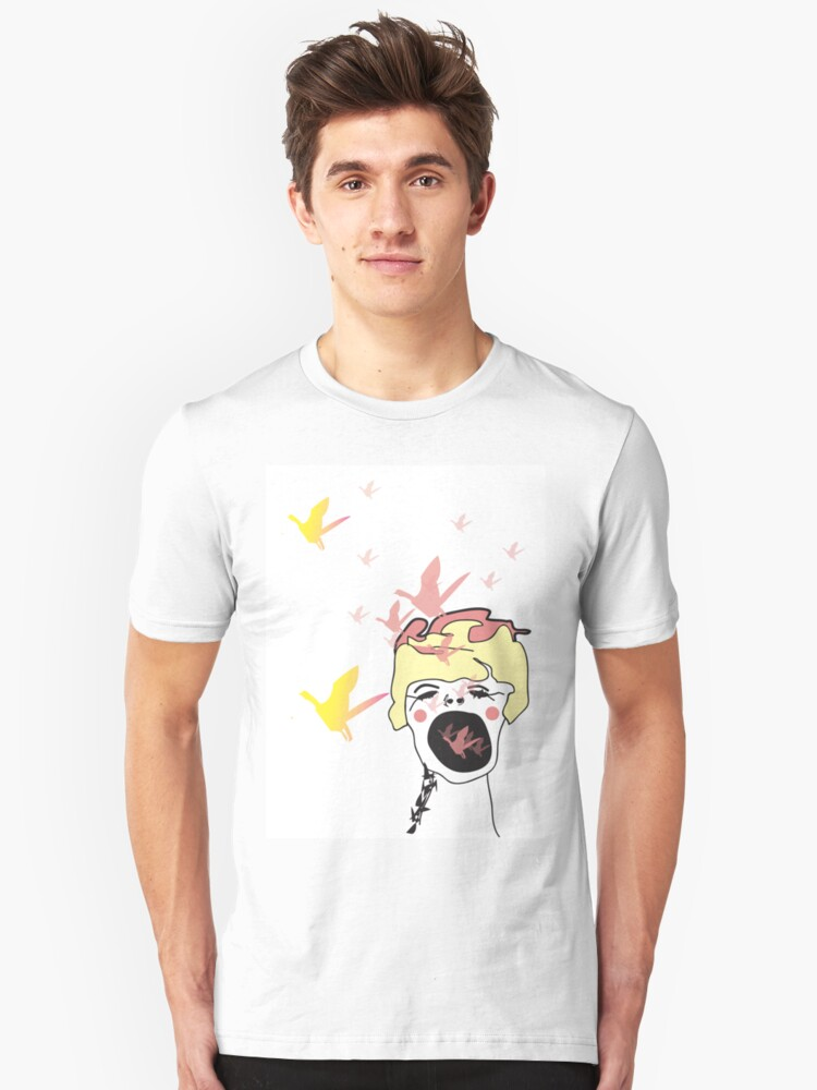 birds in mouth Unisex T-Shirt Front