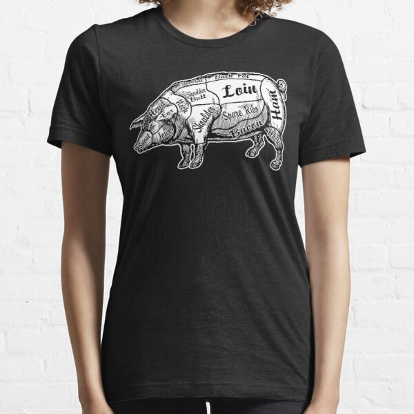 Chef Butcher Chart (Hog Edition). Essential T-Shirt