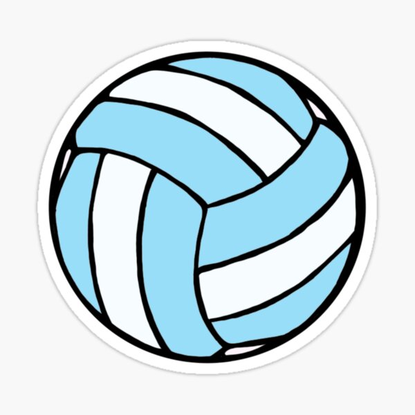 blue and white volleyball Sticker
