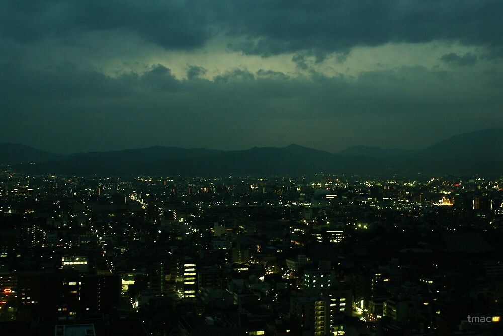 Japan - An Ariel Night in Kyoto 1 by tmac